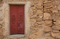 Tunisia, Ksour Area, Ezzahra, village doorway Fine Art Print