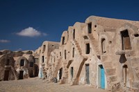 Tunisia, Ksour, Medenine, fortified ksar building Fine Art Print