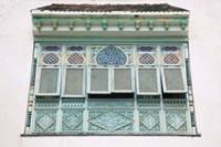 Tunisia, Mahdia, window, moorish architecture Fine Art Print