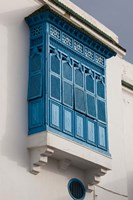 Tunisia, Sidi Bou Said, building detail Fine Art Print