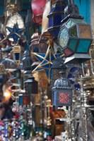 Tunisia, Tunis, Tunisian souvenirs, Souq market Fine Art Print