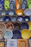 Tunisian pottery, Port El Kantaoui, Tunisia Fine Art Print