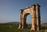 Tunisia, Dougga, Roman-era arch on Route P5 Fine Art Print