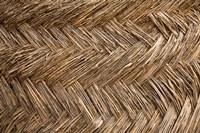 West Africa, Ghana, Yendi. Woven thatch. Fine Art Print