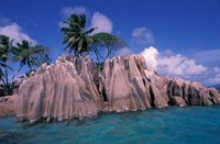 Tropical Shoreline of St Pierre Islet, Seychelles Fine Art Print