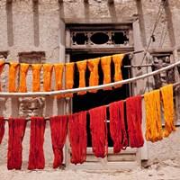 Wool drying textile, Ghazni, Afghanistan Fine Art Print