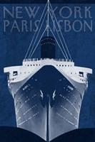 Passage Atlantique Blueprint Fine Art Print
