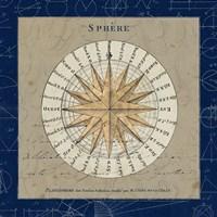 Sphere Compass Blue Fine Art Print
