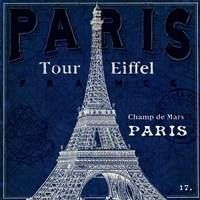 Blueprint Tour Eiffel Framed Print