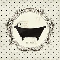 Cartouche Bath Framed Print