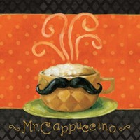 Cafe Moustache IV Square Framed Print