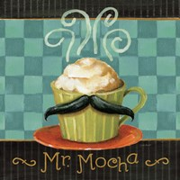 Cafe Moustache V Square Fine Art Print