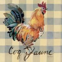 Coq Jaune Framed Print