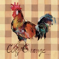 Coq Orange Framed Print