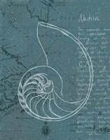 Coastal Blueprint V Dark Framed Print