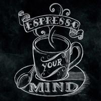 Espresso Your Mind  No Border Square Framed Print