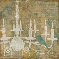Faded Ornate I Aqua Fine Art Print