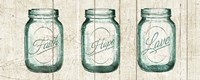 Flea Market Mason Jars Panel I v.2 Framed Print