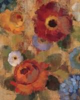 Jacquard Floral II Crop Framed Print