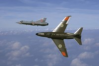 Saab J 32 Lansen and Saab 35 Draken fighters of the Swedish Air Force Historic Flight Fine Art Print