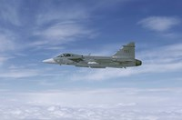 Saab JAS 39 Gripen fighter of the Swedish Air Force Fine Art Print