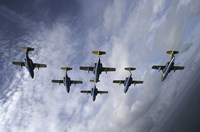 Saab 105 jet trainers of the Swedish Air Force Fine Art Print
