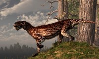 A leopard coated Lycaenops hunts among a forest Fine Art Print
