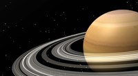 Close-up of Saturn and its planetary rings Fine Art Print