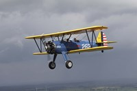 Boeing Stearman Model 75 Kaydet in US Army colors Fine Art Print