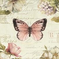 Marche de Fleurs Butterfly I Fine Art Print