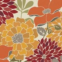 Modern Bouquet Spice Square Fine Art Print