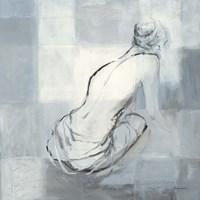 Nude Figure Study on Gray I Fine Art Print