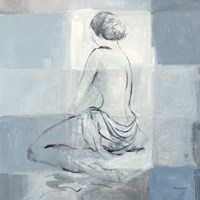Nude Figure Study on Gray II Framed Print
