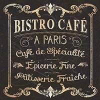 Parisian Signs Square II no Border Fine Art Print