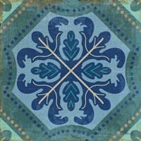 Santorini Tile II Fine Art Print