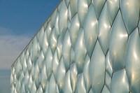 China, Beijing. National Aquatics, Modern building Fine Art Print