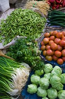 Produce at Xizhou town market, Yunnan Province, China Fine Art Print