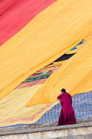 Labrang Monastery Monk, Xiahe, Gansu Province, China Fine Art Print