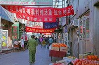 Hutong in Market Street, Beijing, China Fine Art Print