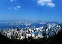 Majestic Hong Kong Harbor from Victoria Peak, Hong Kong, China Fine Art Print