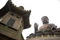 The Giant Seated Buddha, Hong Kong, China Fine Art Print