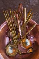 Metal spoons, Lijiang Market, Lijiang, Yunnan Province, China Fine Art Print