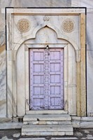 Lavender colored door, Taj Mahal, Agra, India Fine Art Print