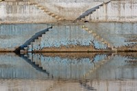 Steps mirrored on small lake, Jodhpur, India Fine Art Print