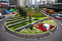 Garden Roundabout, Hong Kong, China Fine Art Print