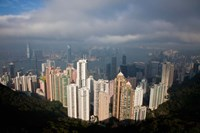View From The Peak, Hong Kong, China Fine Art Print