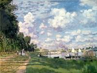 The Marina at Argenteuil, 1872 Fine Art Print