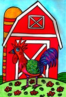 Charlie, The Rooster Fine Art Print