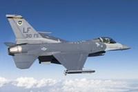 F-16C Fighting Falcon during a sortie over Arizona Fine Art Print