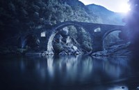 Dyavolski most arch bridge in the Rhodope Mountains, Ardino, Bulgaria Fine Art Print